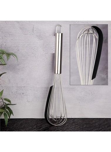 Tohana Tohana THN75014 Paslanmaz Çelik Silikon Sıyırma Aparatlı Çırpıcı Renkli